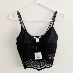 Cropped Lace Cami